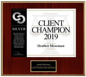 Martindale - Hubbell Client Champion 2019 Plaque